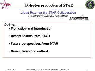 Di-lepton production at STAR