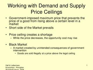 Working with Demand and Supply Price Ceilings
