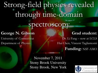 Strong-field physics revealed through time-domain spectroscopy
