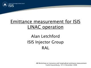 Emittance measurement for ISIS LINAC operation