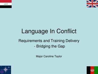 Language In Conflict