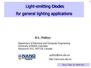 Light-emitting Diodes for general lighting applications