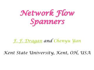 Network Flow Spanners