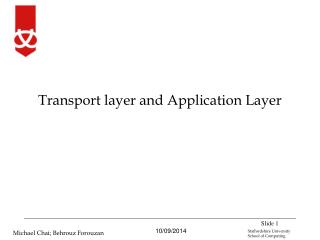 Transport layer and Application Layer