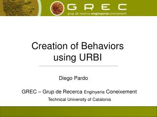 Creation of Behaviors  using URBI