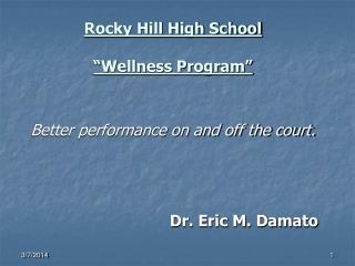 """Rocky Hill High School """"Wellness Program"""""""