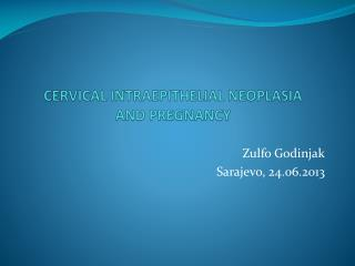 CERVICAL INTRAEPITHELIAL NEOPLASIA   AND PREGNANCY