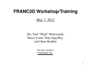FRANC3D Workshop/Training