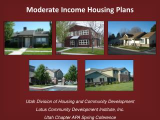 Moderate Income Housing Plans