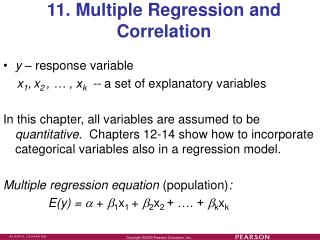 11. Multiple Regression and Correlation