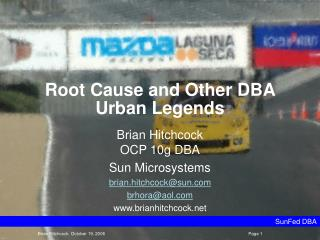 Root Cause and Other DBA Urban Legends