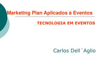 Marketing Plan Aplicados à Eventos