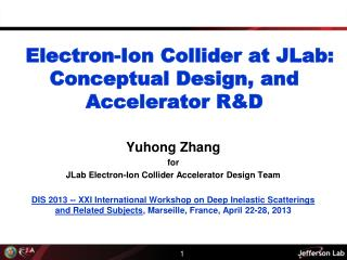Electron-Ion Collider at  JLab : Conceptual Design, and Accelerator R&D