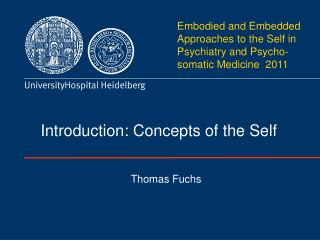 Introduction: Concepts of the Self