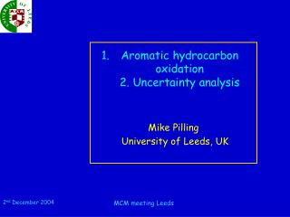 Aromatic hydrocarbon oxidation 2. Uncertainty analysis