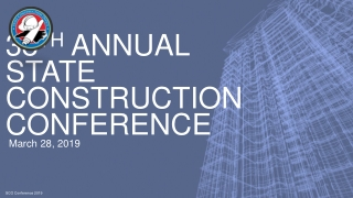 38 th Annual State construction Conference