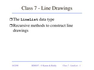Class 7 - Line Drawings