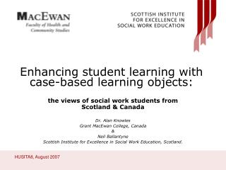 Enhancing student learning with  case-based learning objects: