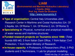 Type of organisation :  Central Italy Universities Joint
