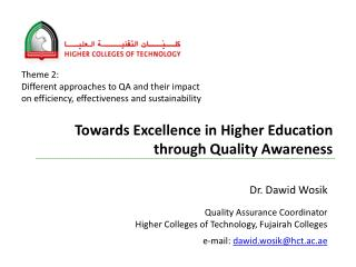 Towards Excellence in Higher Education through Quality Awareness