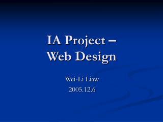IA Project – Web Design