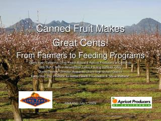 Canned Fruit Makes Great Cents! From Farmers to Feeding Programs
