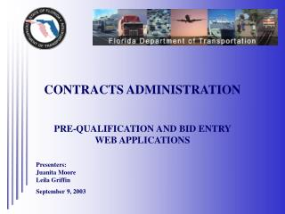CONTRACTS ADMINISTRATION