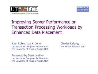 Improving Server Performance on Transaction Processing Workloads by Enhanced Data Placement