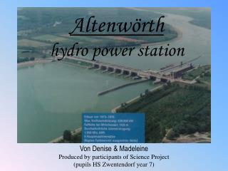 Altenwörth hydro power station