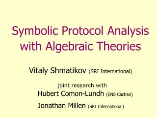 Symbolic Protocol Analysis with Algebraic Theories