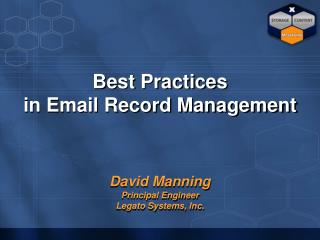 Best Practices  in Email Record Management