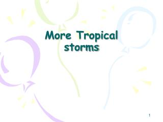 More Tropical storms