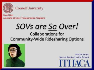 Collaborations for  Community-Wide Ridesharing Options