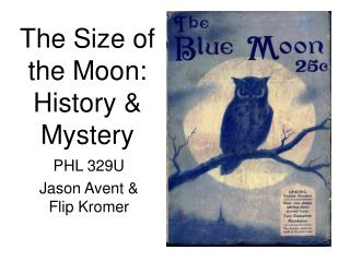 The Size of the Moon: History & Mystery