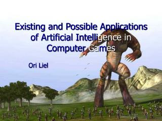 Existing and Possible Applications of Artificial Intelli gence in  Computer  Ga m es