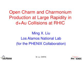 Open Charm and Charmonium Production at Large Rapidity in d+Au Collisions at RHIC