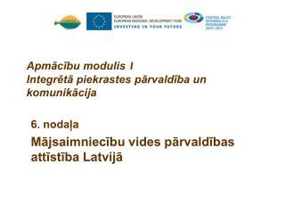 Apmācību modulis  1 Integrētā piekrastes pārvaldība un komunikācija