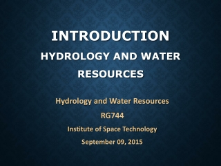Applications of GIS to Water Resources Engineering