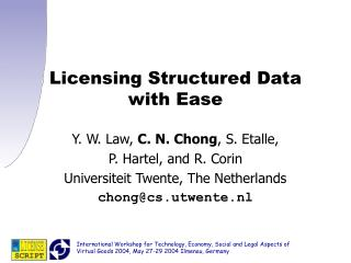Licensing Structured Data with Ease