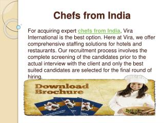 Chefs from India