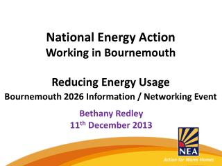 National Energy Action Working in Bournemouth Reducing Energy Usage