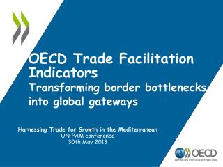 OECD Trade Facilitation Indicators Transforming border bottlenecks into global gateways