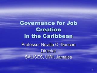 Governance for Job Creation in the Caribbean