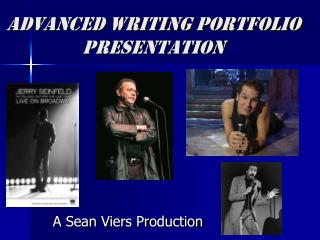 Advanced Writing Portfolio presentation
