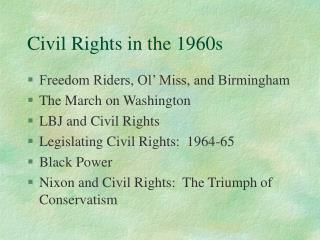 Civil Rights in the 1960s