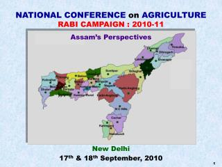NATIONAL CONFERENCE on AGRICULTURE RABI CAMPAIGN : 2010-11
