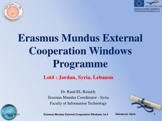Erasmus Mundus External Cooperation Windows Programme