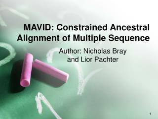 MAVID: Constrained Ancestral Alignment of Multiple Sequence