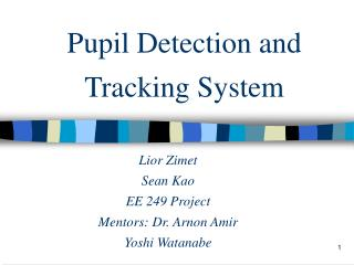 Pupil Detection and Tracking System