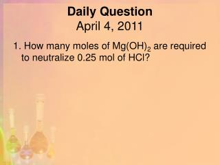 Daily Question April 4, 2011